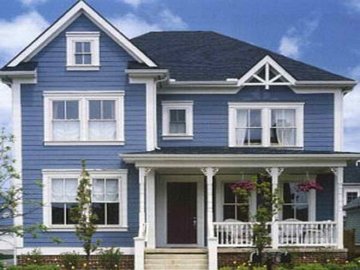 Exterior Paint Blue Google Search With Great Exterior House Color