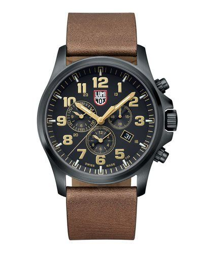 Luminox+Atacama+Chronograph+1940+Series+Watch+Black+Tan+|+Jewelry+and+Accessory