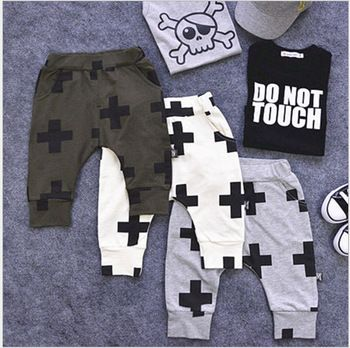 Kruis patroon kinderen baby trainingsbroek nununu harem stijl jongen zomer meisjes& jongens broek harem broek unisex nununu kinderen kleding