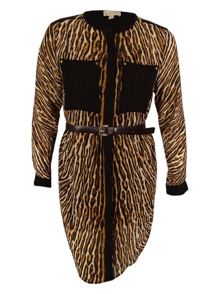 Michael Kors Women's Animal Print Shirt Dress