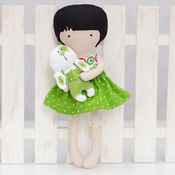 Easter Cloth Doll Rag Doll Fashion Doll with by RibizliDesign