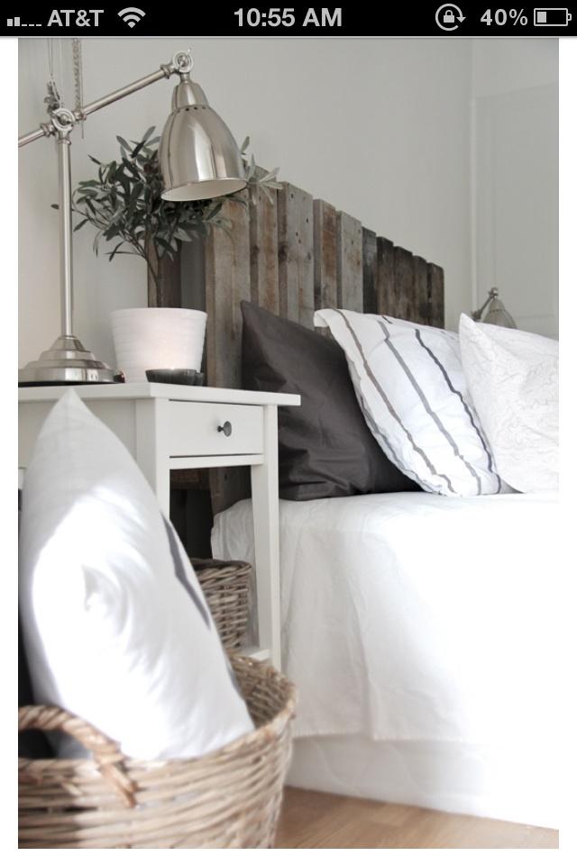barn board Headboard | Pallet headboard diy, Home bedroom ...