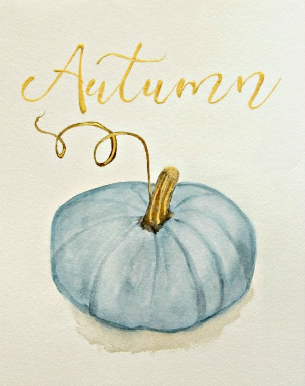 Free Blue Pumpkin Printable For Autumn - The Red Painted Cottage