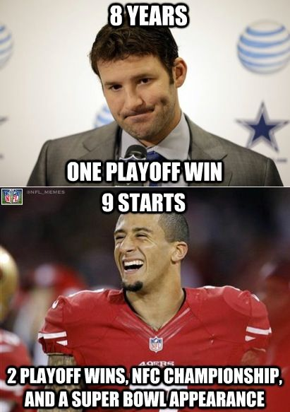 10th start coming up....must be good to be colin kaepernick