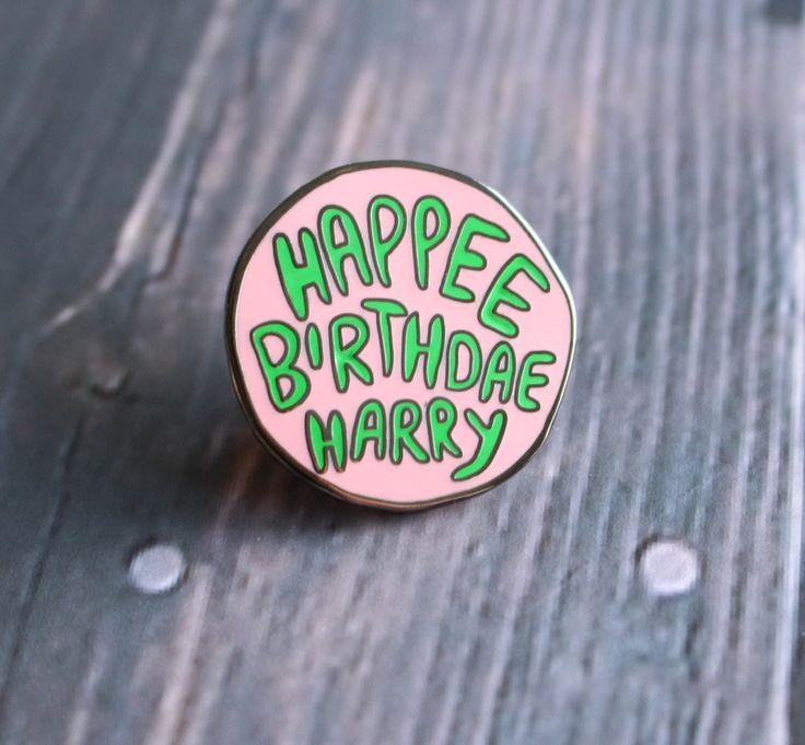 Birfday Cake Hard Enamel Pin by AnxietyAids on Etsy