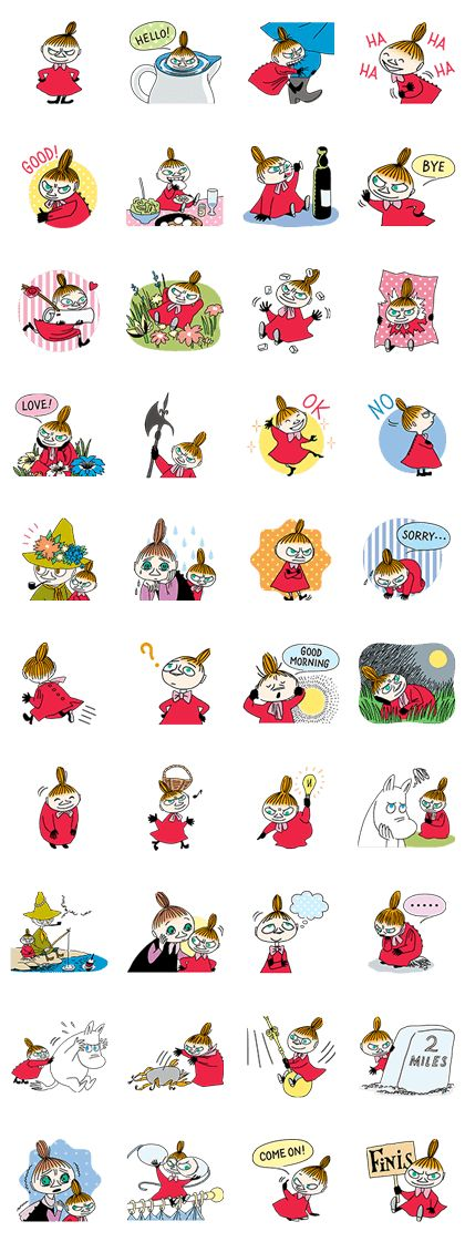 Little My may very well be the most obtuse girl in Moominvalley. She's always flitting about causing mischief of one kind or another. Maybe starring in her own set of LINE stickers will soothe her inner rage!