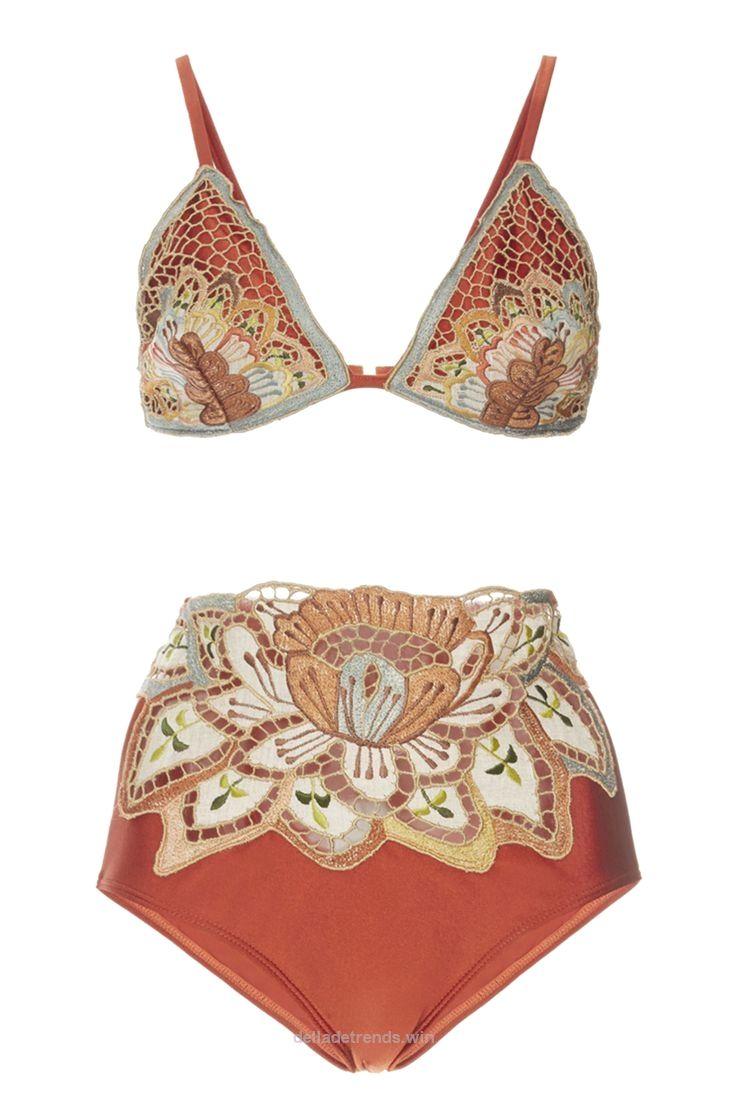 Agua de Coco Embroidered Triangle Bikini Top, $230; modaoperandi.com Agua de……