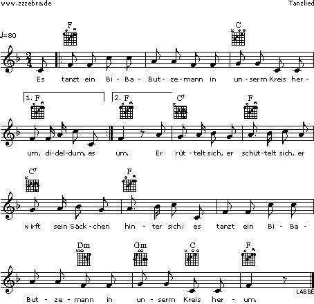Es tanzt ein Bi-Ba-Butzemann - Kinderlieder und Singspiele | Labbé Verlag