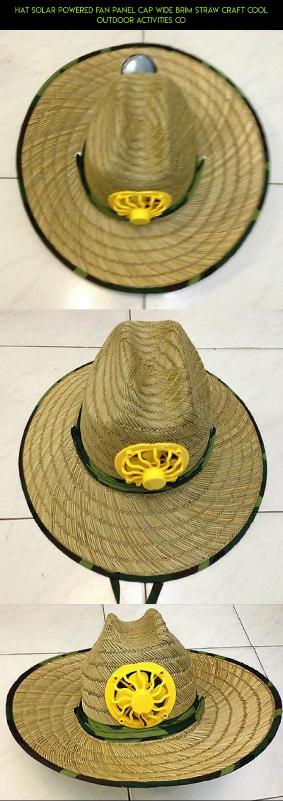 Hat Solar Powered Fan Panel Cap Wide Brim Straw Craft Cool Outdoor Activities Co #gadgets #parts #camera #tech #cooling #plans #outdoor #hat #racing #fpv #drone #technology #kit #shopping #products