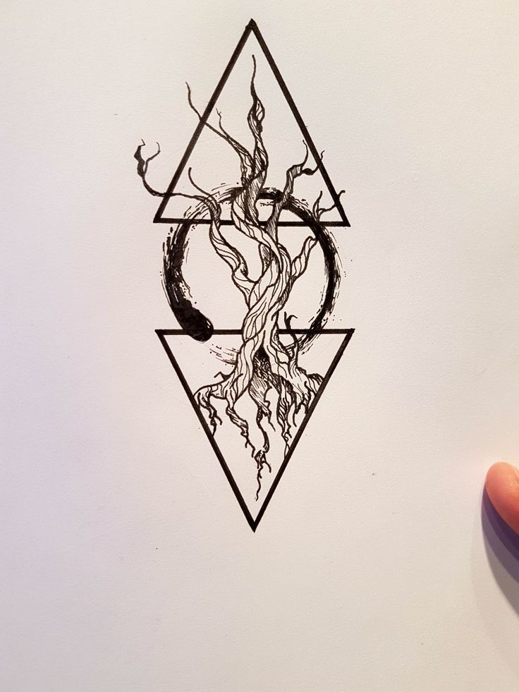 Geometric Tattoo – Enso circle of togetherness - Natasha Yuspina