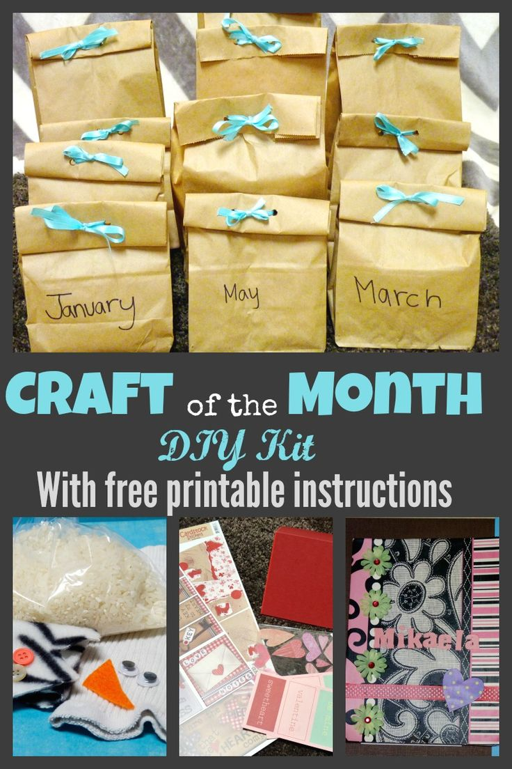 Diy Craft of the month subscription kit for kids. Fun and creative DIY gift for the child who loves to craft!