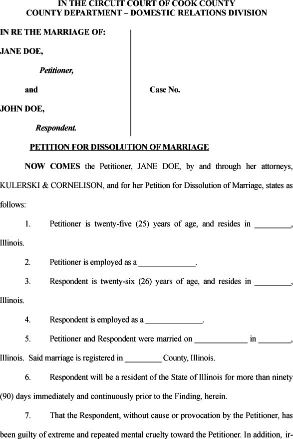 17 Best images about Divorce Papers – Samples of Divorce Papers