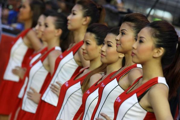Grid girls: F1 Singapore, Prix 2012, Singapore Grand, Girls Generation, Grid Girls, Grand Prize, Cars Races, Racing Girls, Shady Trees