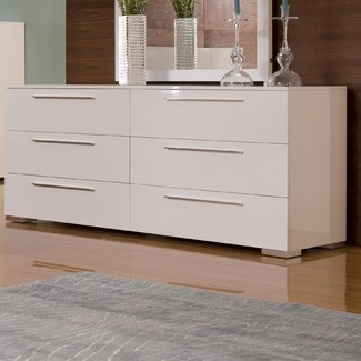 chico double dresser in white lacquer modern dressers chests and bedroom armoires