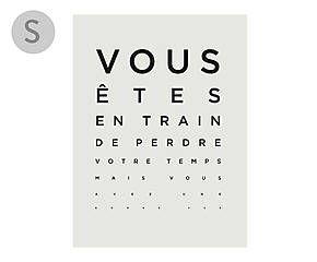 Affiche UNE BONNE VUE, Blanc Et Noir   21*29,7 | Bercy | Wall, Black, White  Et Illustration
