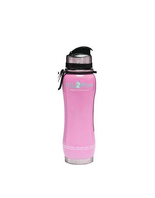 Fill2Pure Water Filtration, #Filter #Bottle – Pink $49.95 - #Waikato - Shop @ www.water-bottle.co.nz -