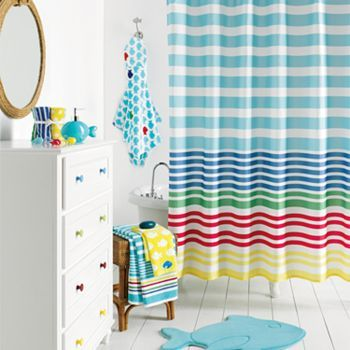 Jumping Beans Splash Around Fabric Shower Curtain