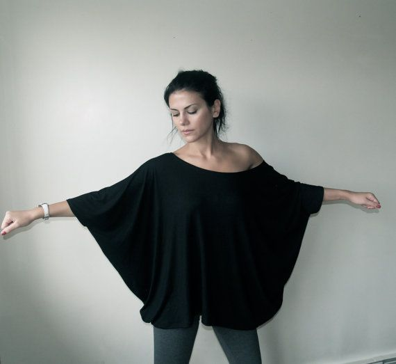 Oversized Womens Blouse  The Butterfly  Top Tunic  by marcellamoda