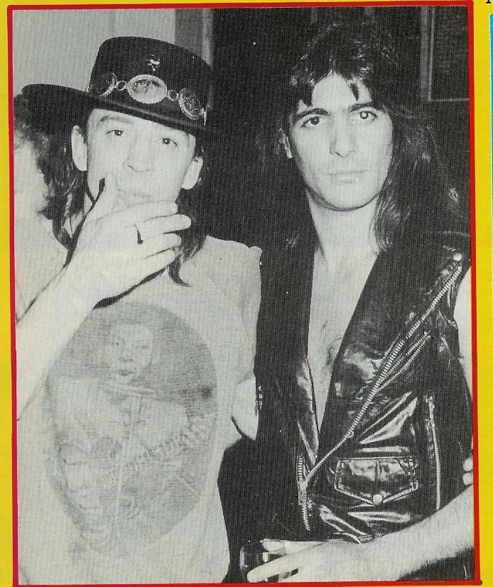 Stevie Ray Vaughn and Joe Demaio of Manowar