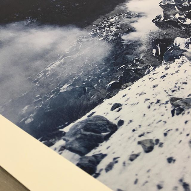 Loving the incredible print detail in Mark Lobo's Hakone print that is being prepared for a client.  #photography #art #print #printing #gicleeprint #giclée #japan #mountains