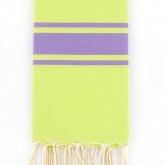 The serviette de plage...Fouta Bikini - vert anis & lavande