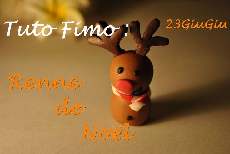 Tuto Fimo Noël : Le renne !