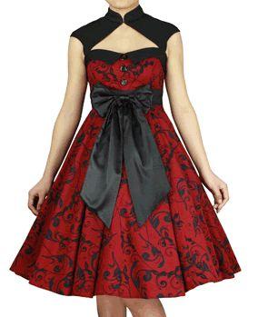 Untie Me Dress - Red - #infectiousthreads #goth #gothic #gothfashion #gothicclothing #horrorpunk #punk #alt #alternative #psychobilly #punkrock #black #fashion #clothes #clothing #darkfashion #streetfashion #UCG #upperclassgoth