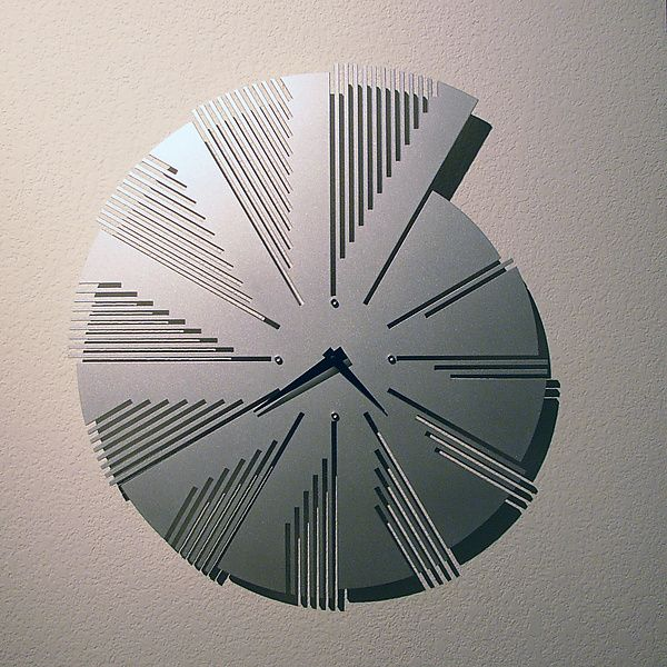 Time Flies Wall Clock by John Nalevanko: Metal Clock available at www.artfulhome.com