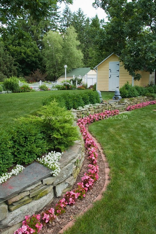 116 best border garden ideastips images on pinterest beautiful nice border stone wall brick edging evergreen plants a bit workwithnaturefo