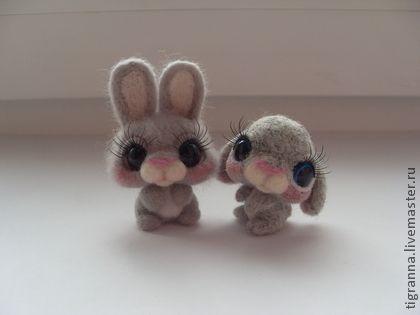 Игрушки животные, ручной работы. Ярмарка Мастеров - ручная работа Войлочные зайчата. Handmade.