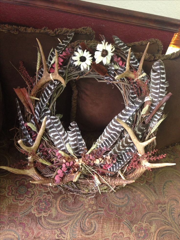 Deer Antler Wreath | Art Design Update Pictures and Images Database