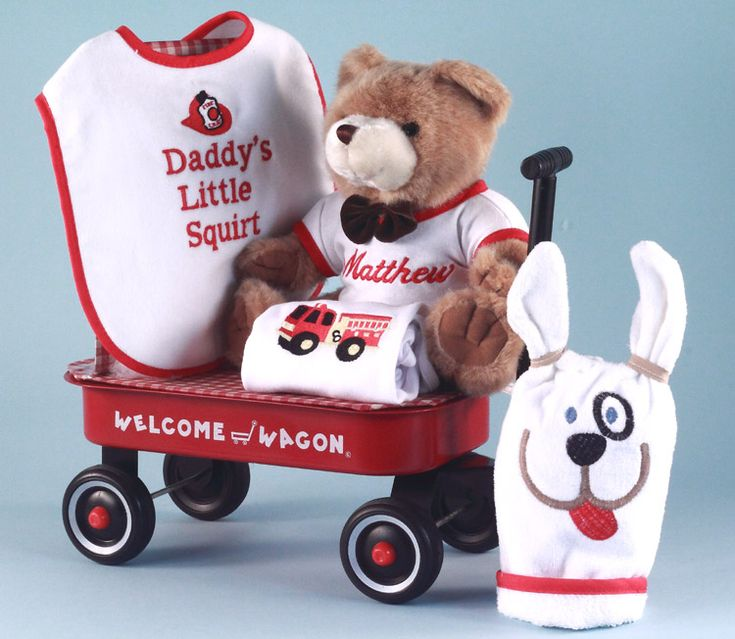24 best gift ideas for new parents images on pinterest blessings aww heres daddys little firefighter this little squirt welcome wagon personalized baby girl gift is a great gift for baby girl negle Gallery