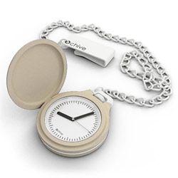 O chive pocket watch - Cream