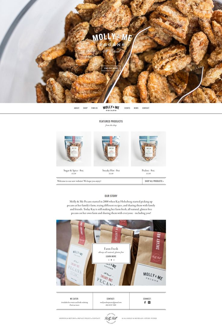 Molly and Me – Pecans - Webdesign minimaliste