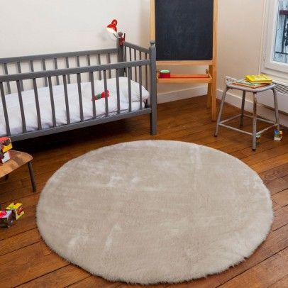 runder teppich beige beige pilepoil - Teppich Babyzimmer Beige