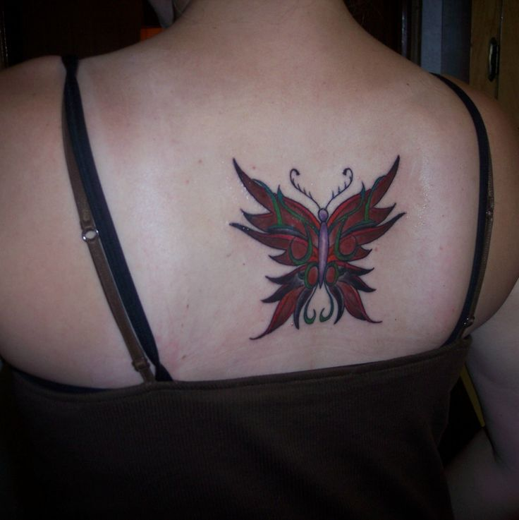 Butterfly tattoo on back | Butterfly tattoos | Pinterest