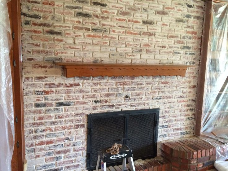 fireplace smeared mortar