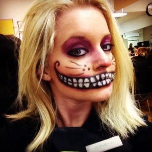 Cheshire Cat theatrical #makeup by our student Colleen.