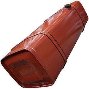 Depósitos de gasoil en acero, con rompeolas interno y acabado en imprimación. Incluye los soportes de fijación, tubos de absorción y tapón.