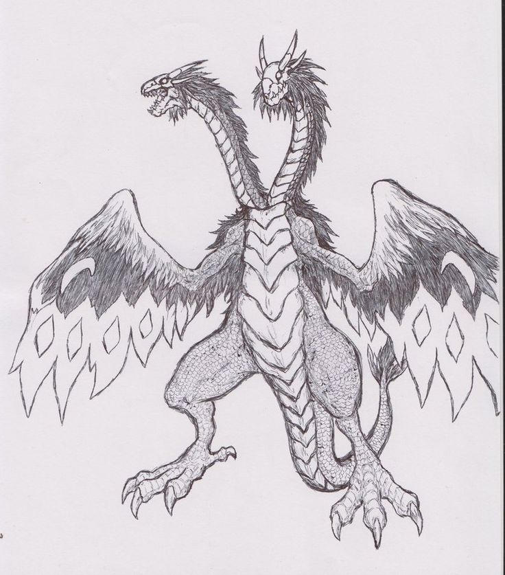 21 best Two-headed Dragon Tattoo Drawings images on