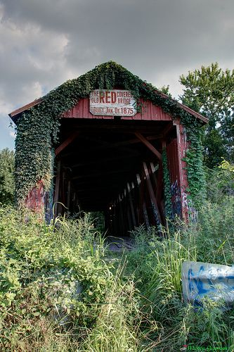 The old RED covered Bridge