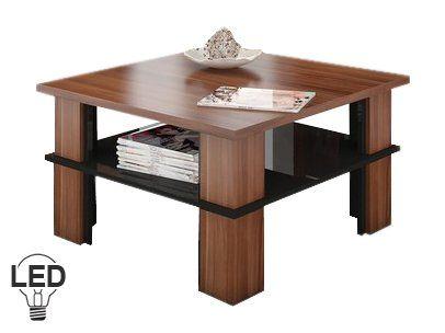 Na prvý pohľad bežný konferenčný stolík, ale svoju jedinečnosť ukáže až po zotmení. Voliteľné LED osvetlenie vyzerá super a dodá nábytku a miestnosti úžasný efekt. Je to novinka na trhu s nábytkom. Konferenčný stolík má aj praktickú poličku, ktorá slúži na odkladanie novín, ovládača od TV, proste vecí, ktoré chcete mať vždy poruke. Umiestniť ho môžete do obývacej izby, pracovne, kancelárie alebo vo vstupnej hale. Farebné prevedenie je slivka v kombinácii s čiernym vysokým leskom.