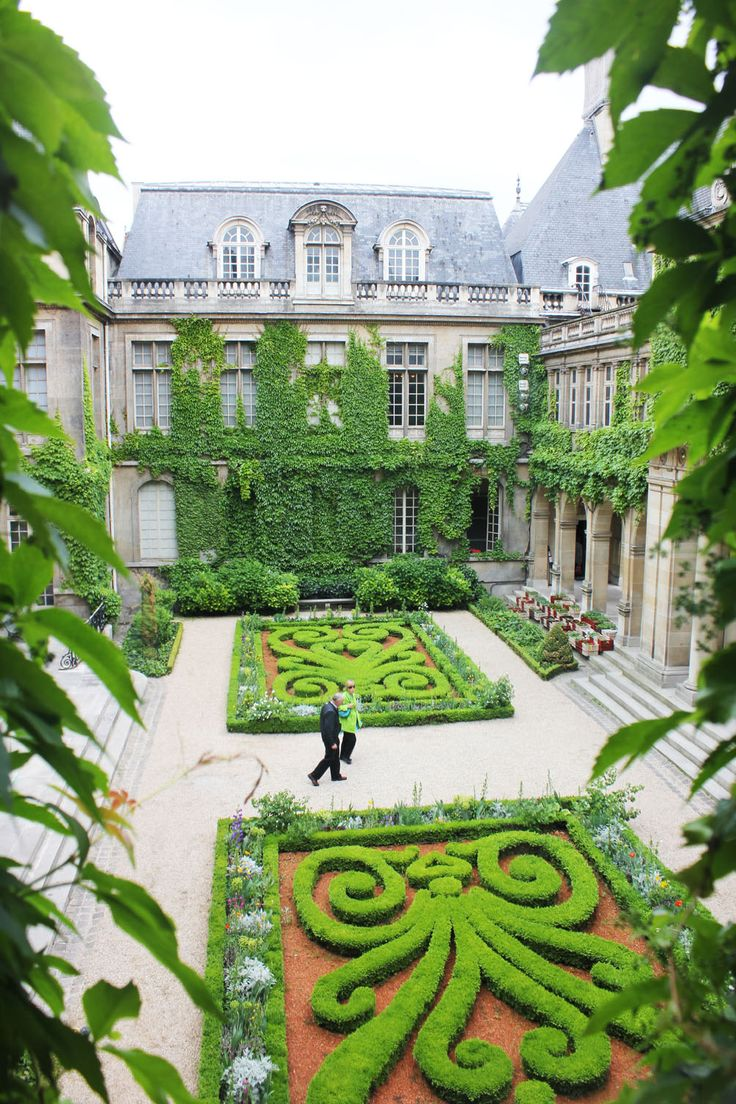 Carnavelet Museum in ParisCourtyards Gardens, Carnavelet Museums, Dreams Home, Paris France, Formal Gardens, French Gardens, Places, Design, Architecture Models