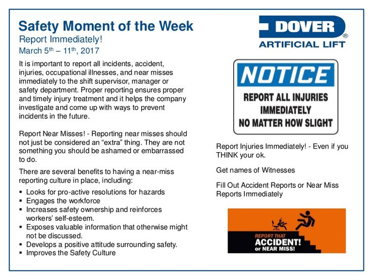 Report Immediately! Alberta Oil Tool's #Safety Moment of the Week 06-Mar-2017