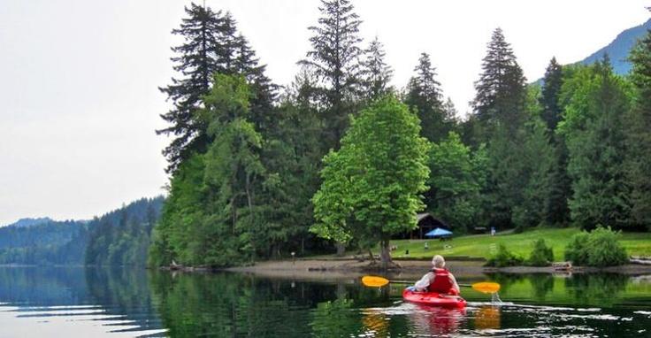 Kayaking on Cultus - Image Copyright Ken Bramble #kayaking #outdoors
