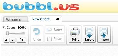 Bubble.us - Online Brainstorming  https://bubbl.us