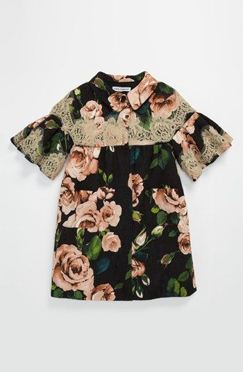 Dolce&Gabbana Floral & Lace Coat (Little Girls & Big Girls) available at #Nordstrom