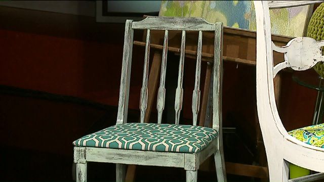 MILWAUKEE -- Give your old chair a new look. Aaron Keller, a designer with Steinhafels, joined the Studio A team with a step-by-step demonstration on reupholstering.