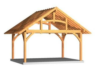 20 best timber frame canopies images on pinterest for Timber frame carport plans