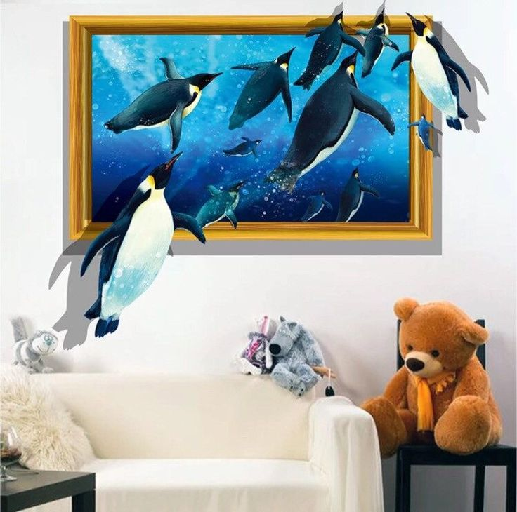 3D Removable Penguin Wall Art Stickers - Simply Adore
